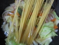 春野菜のスープパスタ 調理④
