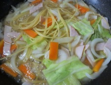 春野菜のスープパスタ 調理⑤