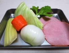 春野菜のスープパスタ 材料①