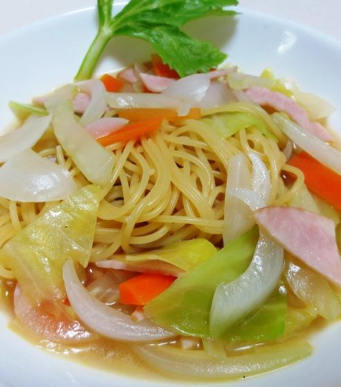 春野菜のスープパスタ 大