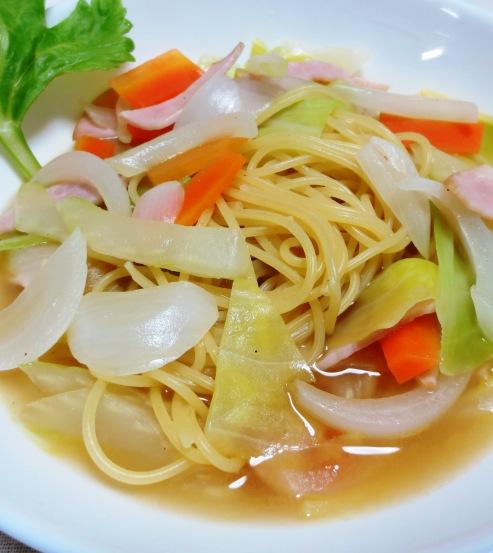 春野菜のスープパスタ B