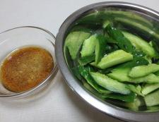 たたききゅうりの生姜和え 調理②