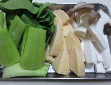 豆腐と青梗菜のうま煮 【下準備】