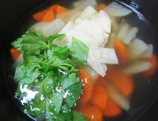 湯葉のとろみスープ 調理