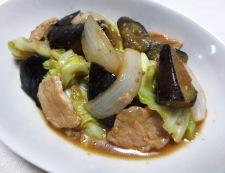 春野菜と茄子の味噌炒め 調理⑥