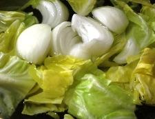 春野菜と茄子の味噌炒め 調理①