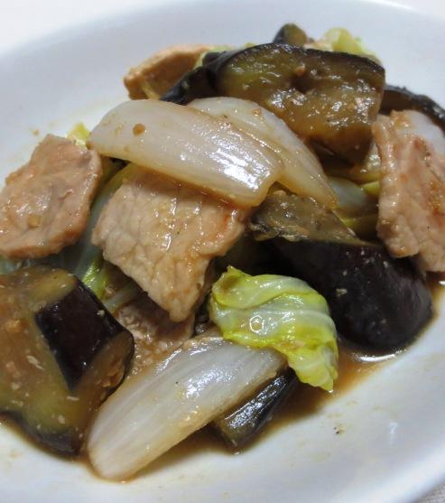 春野菜と茄子の味噌炒め B