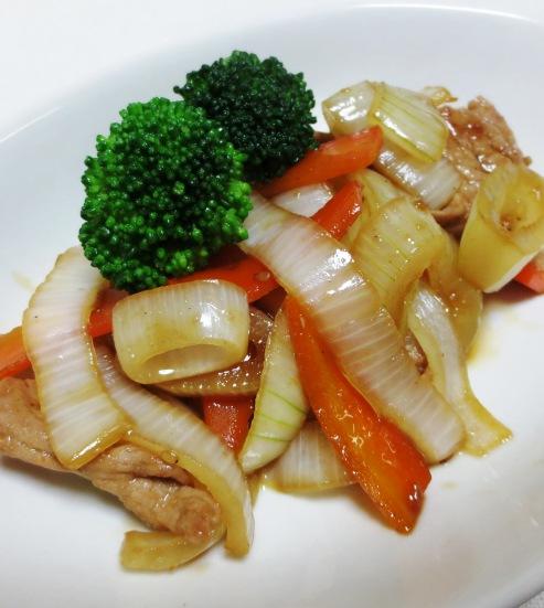新玉ねぎの焼肉のタレ炒め B