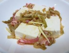 豆腐のザーサイ蒸し 調理②