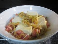 豆腐のザーサイ蒸し 調理③