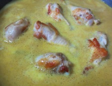鶏手羽元のカレーミルク煮 調理②