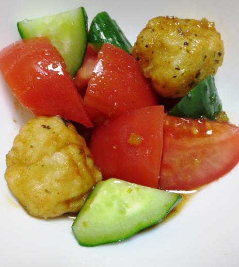 トマトと唐揚げのサラダ B
