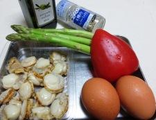 アスパラと炒り卵のペパーソテー 材料