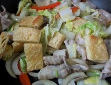 お揚げと豚肉のポン酢ソテー 調理③