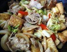 お揚げと豚肉のポン酢ソテー 調理④