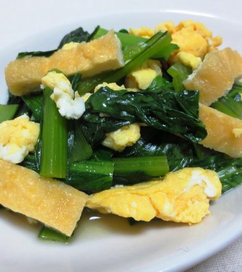小松菜と炒り卵の煮物 B