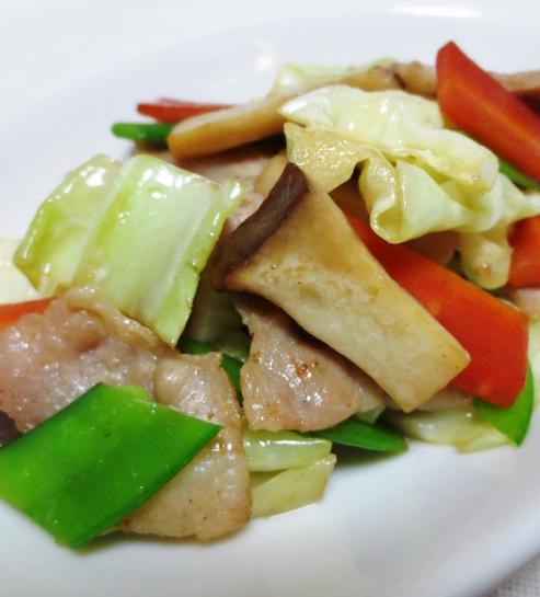 豚肉とキャベツの塩炒め 大
