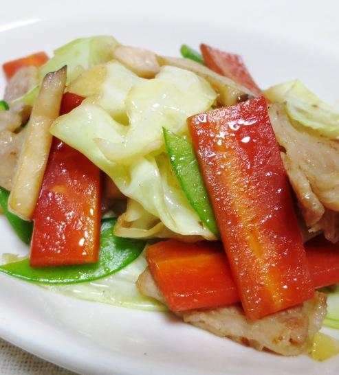豚肉とキャベツの塩炒め大