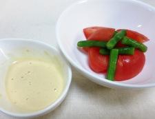 トマトのわさびマヨポン酢 調理②