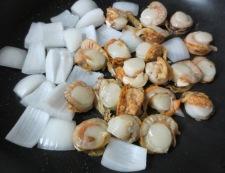 ホタテの柚子胡椒照り焼き 調理①