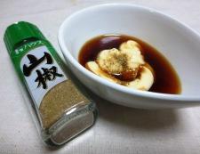 きゅうりとわかめのマヨ山椒和え 調味料