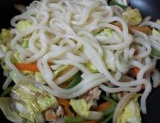 麺つゆカレー焼きうどん 調理④