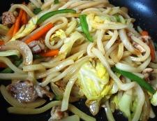 麺つゆカレー焼きうどん 調理⑤