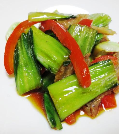 青梗菜と豚肉のオイスターソース炒め 大