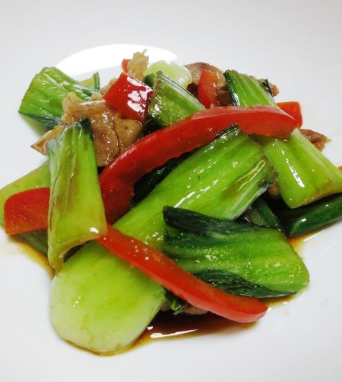 青梗菜と豚肉のオイスターソース炒め B