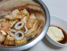 キムチと竹輪のマヨポン和え 調理