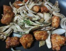 舞茸炒め 調理②