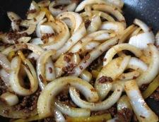 新玉ねぎの肉味噌炒め 調理④