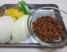 新玉ねぎの肉味噌炒め 材料