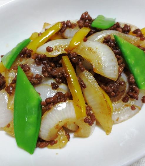 新玉ねぎの肉味噌炒め 拡大