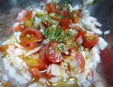 メカジキのサルサソース ソース調理①