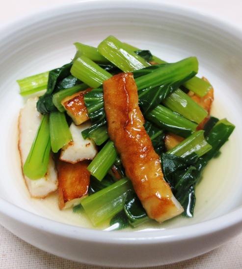 小松菜と竹輪の炊いたん大