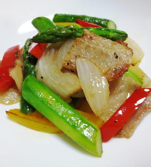 豚肉とカラフル野菜のハーブソテー B