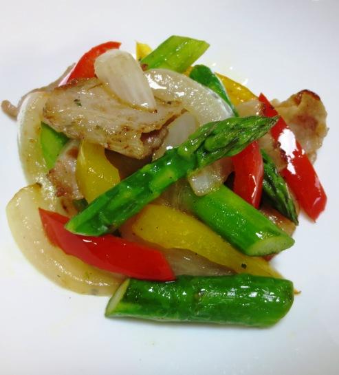 豚肉とカラフル野菜のハーブソテー 大