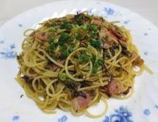 ベーコンと明太高菜の和風バスタ 調理⑥