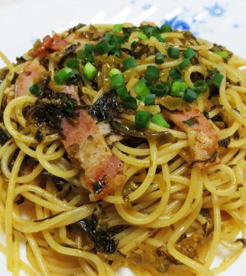 へーコンと明太高菜の和風パスタ B