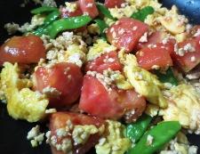 炒り卵とトマトの炒めもの 調理⑥