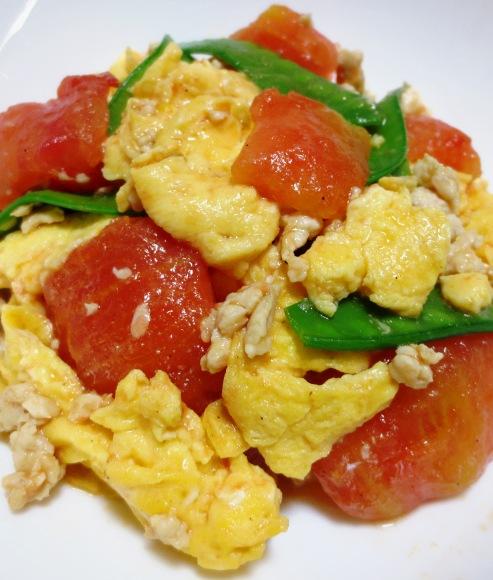 炒り卵とトマトの炒めもの 大