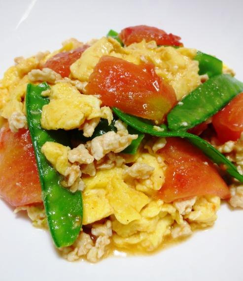 炒り卵とトマトの炒めもの B