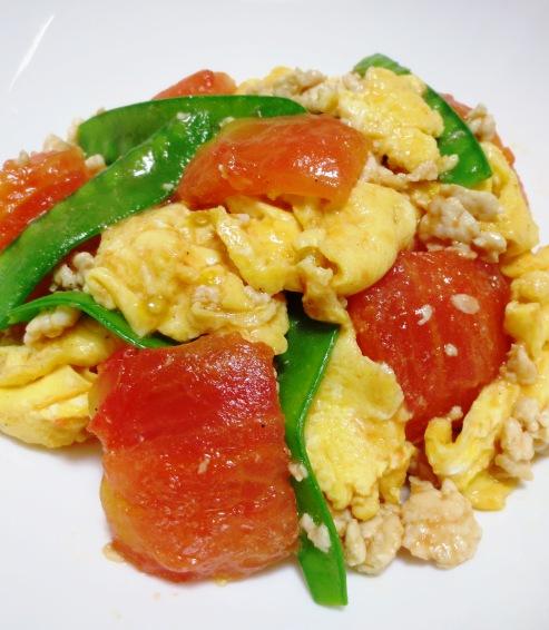 炒り卵とトマトの炒めもの 拡大