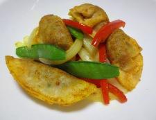 揚げ餃子のカレー炒め 調理⑥