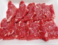 牛肉とスナップエンドウのオイスターソース炒め 材料①