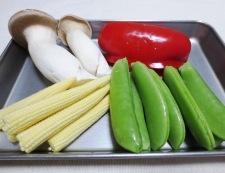 牛肉とスナップエンドウのオイスターソース炒め 材料②