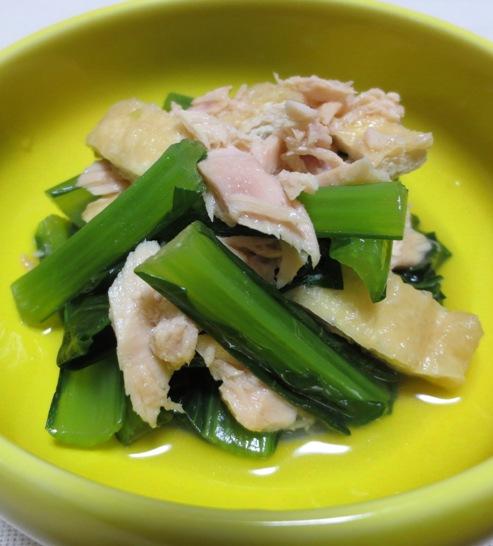 小松菜とツナの炊いたん 大
