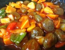 理想のトマトで酢こんにゃく【酢豚風】 調理⑤