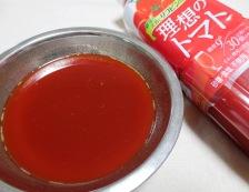 理想のトマトで酢こんにゃく【酢豚風】 材料調味料